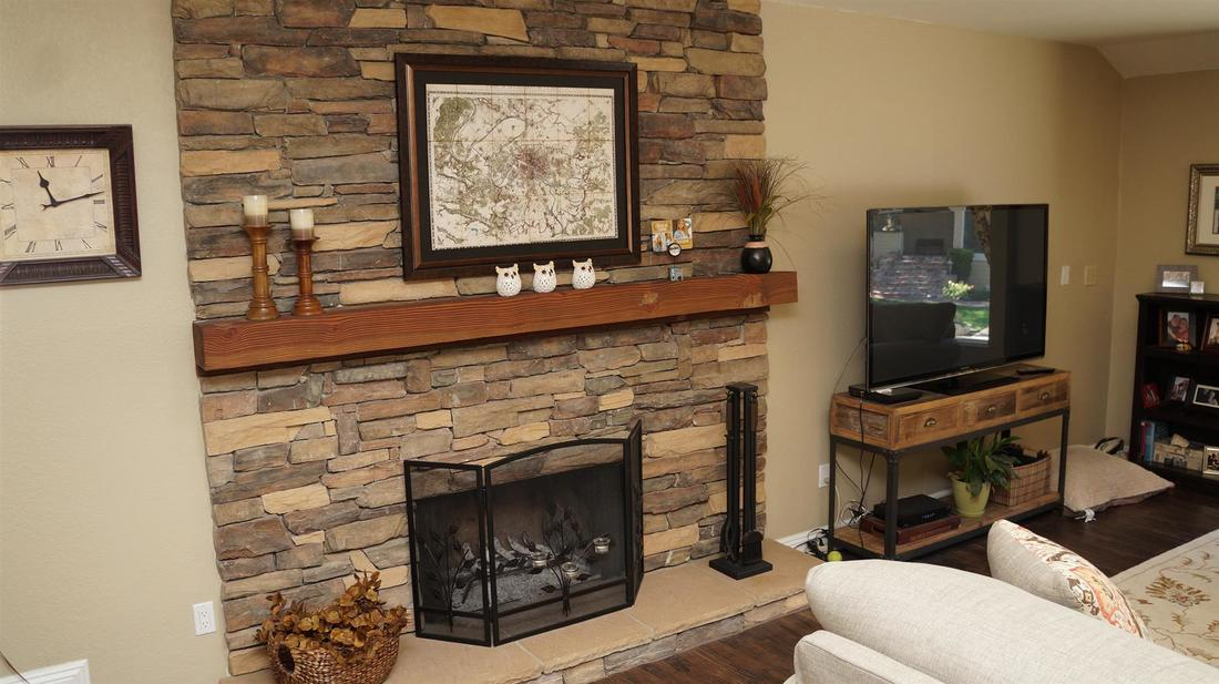 23710 La Salle Canyon Road, Newhall, CA 91321 - Family/Living Room Fireplace